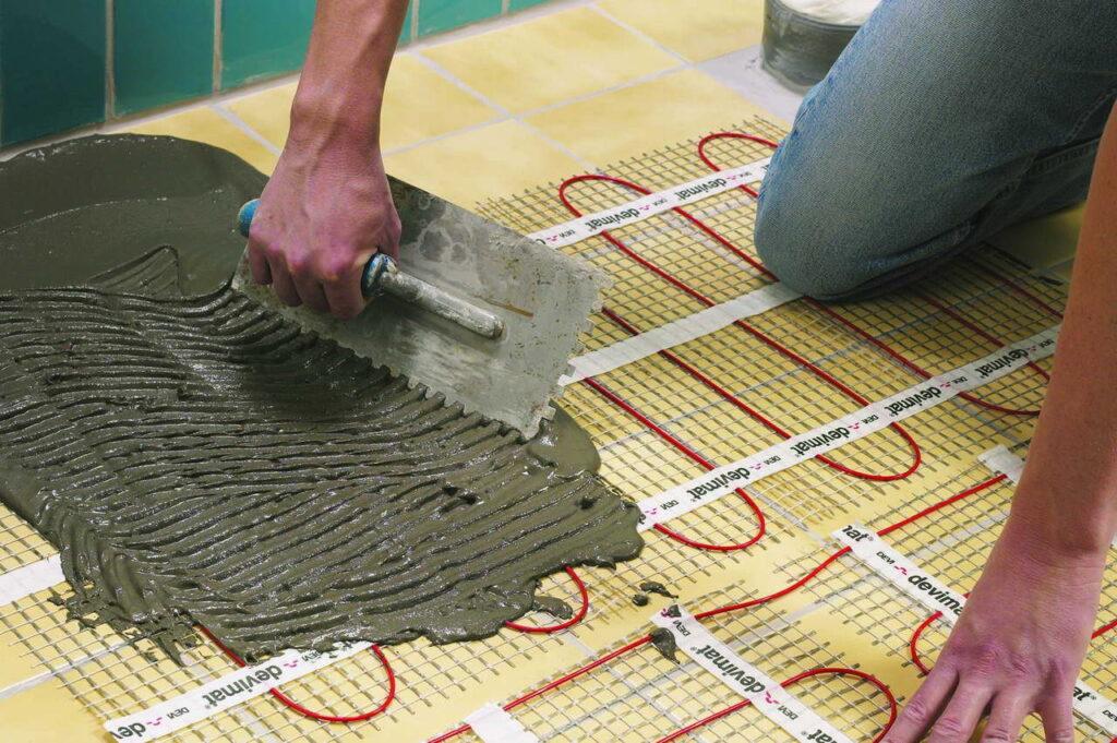 Процедура укладка плитки