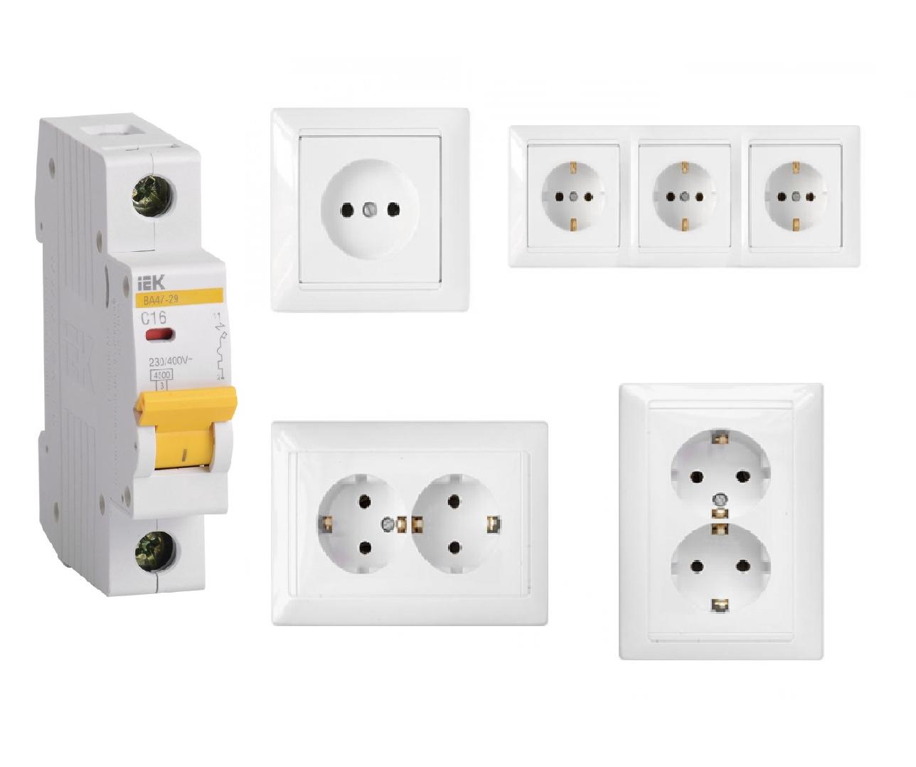 Какого типа розетки и выключатели подходят для квартиры?